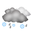 Snow, sunshine, clouds