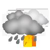 Dichte Wolken, Regenschauer und Gewitter wahrscheinlich